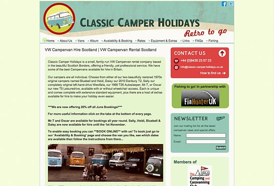 Classic Camper Holidays