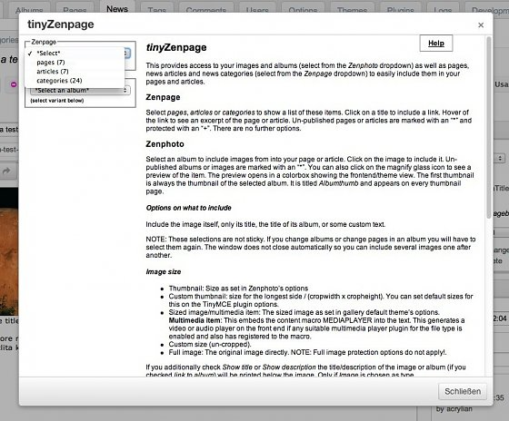 04-tinyzenpage-selecting-zenpage-items