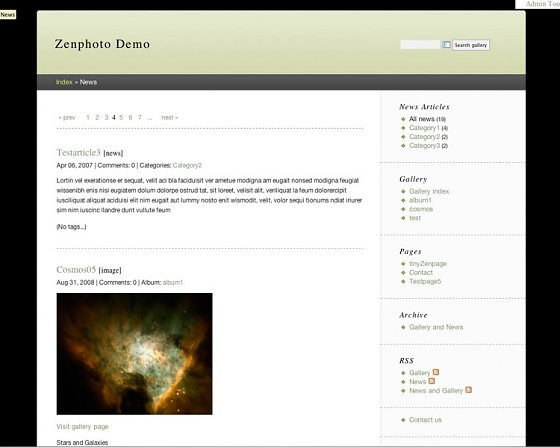 zenpage-news-in-combinewsmode